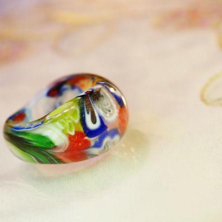 『Fiore』 ガラスアクセサリー リング・指輪 デザインタイプ