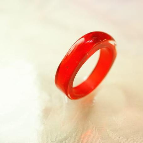 『Vitamin Orange』 ガラスアクセサリー リング・指輪 ノーマルタイプ
