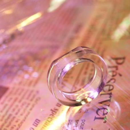『サイドカットデザインリング』 ガラスアクセサリー リング・指輪 デザインタイプ