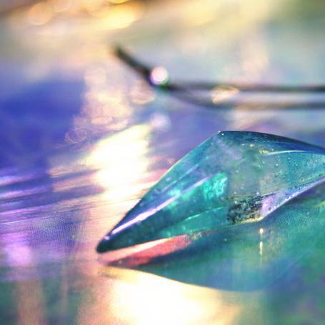 『Dream world』 ガラスアクセサリー ネックレス・ペンダント 立体造形タイプ