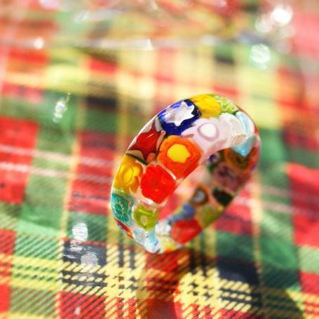 『floral ring』 ガラスアクセサリー リング・指輪 ノーマルタイプ