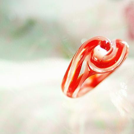 『Xmas candle』 ガラスアクセサリー リング・指輪 デザインタイプ