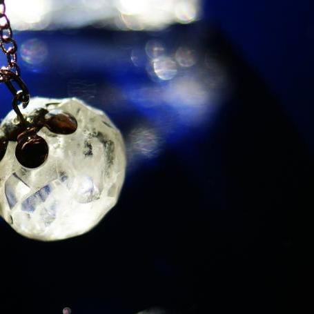 『ICE PLANET ~ 神秘の星 ~』 ガラスアクセサリー ネックレス・ペンダント 立体造形タイプ