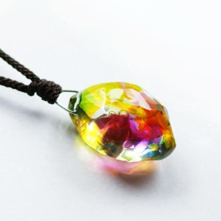 『かんたん封入ペンダント / こころ』 ガラスアクセサリー ネックレス・ペンダント 立体造形タイプ
