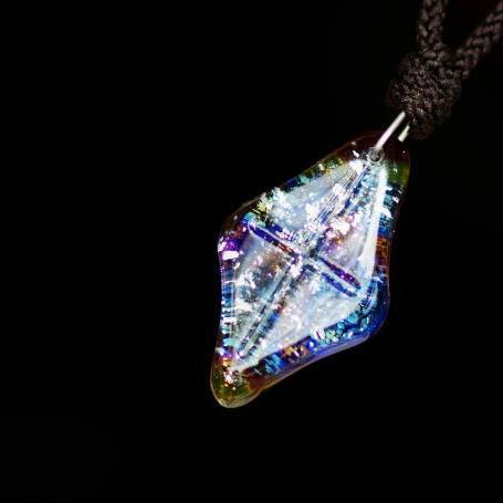 『Several color jewel』 ガラスアクセサリー ネックレス・ペンダント 四角・多角・星タイプ