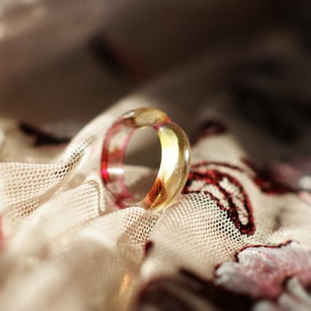 『幸せ / ピンキーリング』 ガラスアクセサリー リング・指輪 デザインタイプ