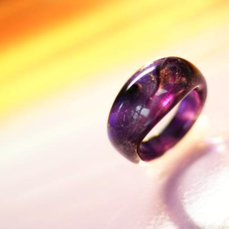 『SUNSET VIOLET』 ガラスアクセサリー リング・指輪 ノーマルタイプ