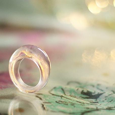 『爽やかな愛』 ガラスアクセサリー リング・指輪 ノーマルタイプ