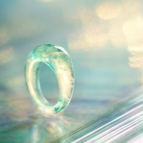 『淡き水の神秘』 ガラスアクセサリー リング・指輪 ノーマルタイプ