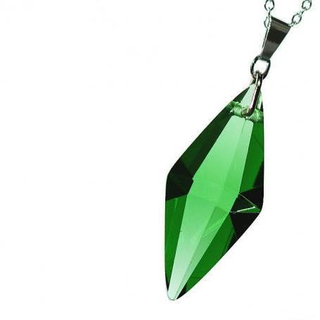 『Standard Dreamblue / グリーン』 ギフトやご結婚祝いに ガラスアクセサリー ネックレス・ペンダント 立体造形タイプ