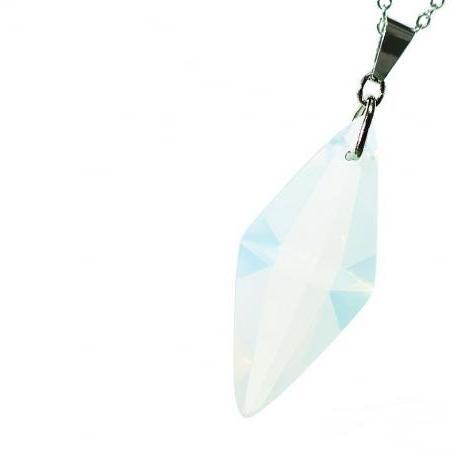 『Standard Dreamblue / ホワイト』 ギフトやご結婚祝いに ガラスアクセサリー ネックレス・ペンダント 立体造形タイプ