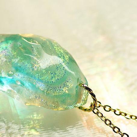 『Ice milkyway』 ガラスアクセサリー ネックレス・ペンダント 立体造形タイプ