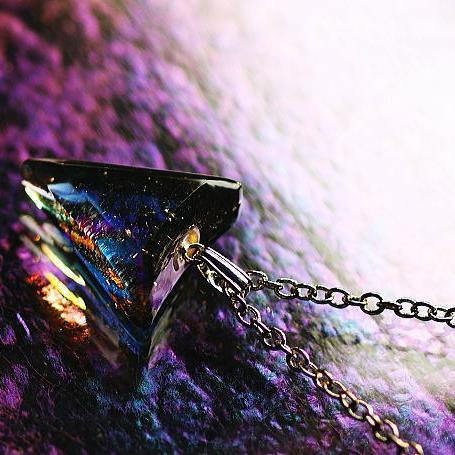 『Power of triangle』 ガラスアクセサリー ネックレス・ペンダント 四角・多角・星タイプ