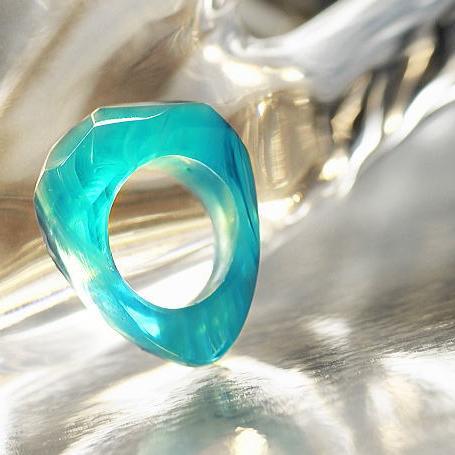 『BLUE ICE RING』 ガラスアクセサリー リング・指輪 デザインタイプ