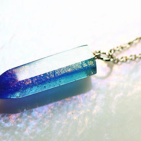 激安超安値 『Aqua crystal ~ 水の宝物 ~』 ガラスアクセサリー ネックレス・ペンダント 立体造形タイプ, titivate(ティティベイト) 6e427435