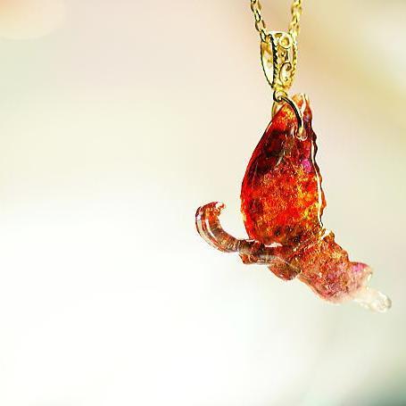 『Ageha ~ Passion butterfly ~』 ガラスアクセサリー ネックレス・ペンダント ダイカット(平面造形)タイプ