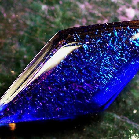 『RAINBOW BRIGHT PULSE ~ 静穏 ~』 ガラスアクセサリー ネックレス・ペンダント 四角・多角・星タイプ