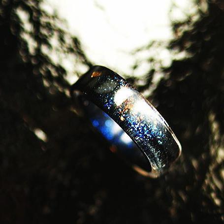 『宇宙旅物語 ~ 序章 ~』 ガラスアクセサリー リング・指輪 ノーマルタイプ