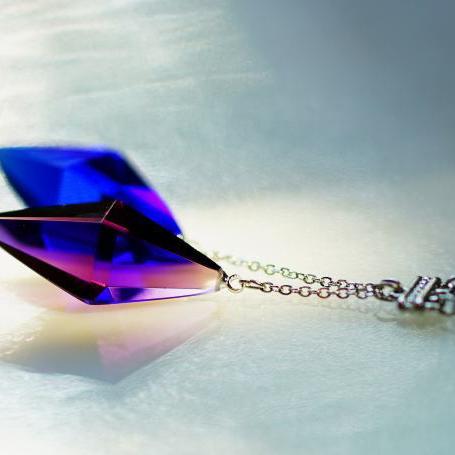 『Standard Dreamblue ~ Resonance(P/CB) ~』 ガラスアクセサリー ネックレス・ペンダント 立体造形タイプ