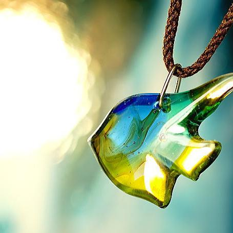 『Marine angel』 ガラスアクセサリー ネックレス・ペンダント ダイカット(平面造形)タイプ