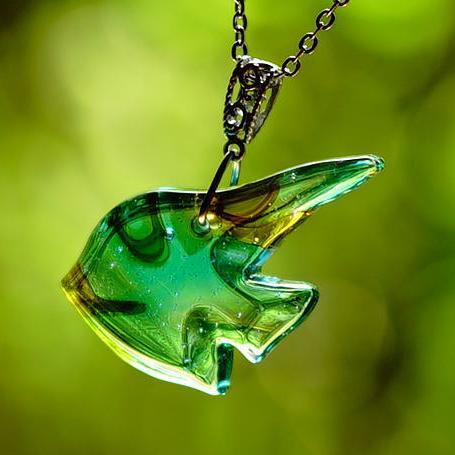 『Marine angel ~ Longfin ~』 ガラスアクセサリー ネックレス・ペンダント ダイカット(平面造形)タイプ