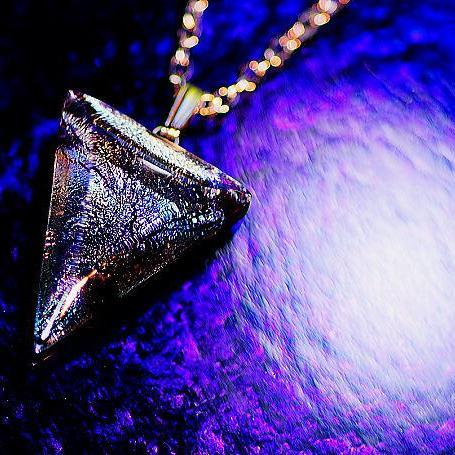 『Brocade triangle』 ガラスアクセサリー ネックレス・ペンダント 四角・多角・星タイプ