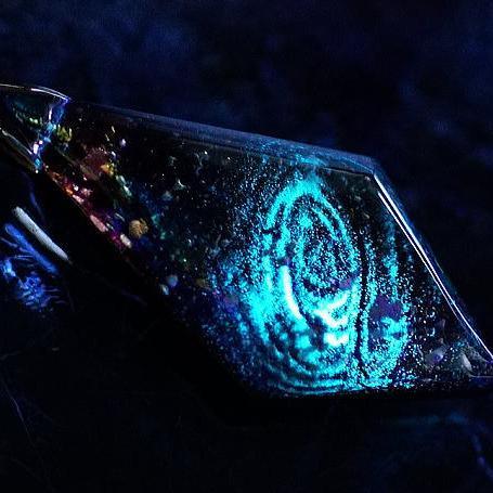 『永遠の銀河』 ガラスアクセサリー ネックレス・ペンダント 四角・多角・星タイプ