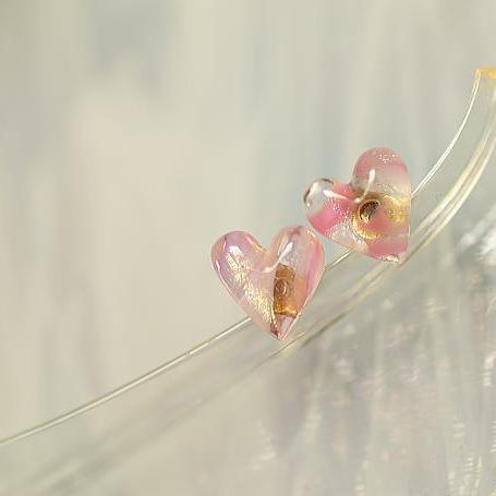 『Pure petit Heart』 ガラスアクセサリー ピアス・イヤリング