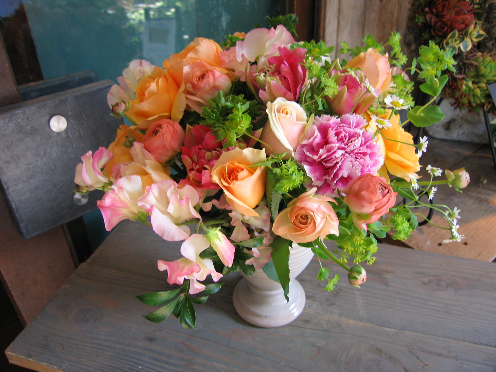 オレンジ・ソルベ■花 アレンジメント 花束 ローズ ばら 薔薇 記念日 結婚祝い 贈り物 お祝い即日発送 フラワー ギフト プレゼント 誕生日 出産祝い 結婚記念日 開店祝い スタンド花 バラ お供え お悔やみ オレンジ 父の日