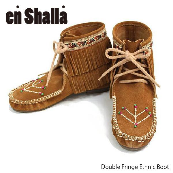 【En Shalla-エンシャーラ-】Double Fringe Ethnic Boot-ダブルフリンジエスニックブーツ-[ENS-006]《発送にはご注文後3営業日程頂きます。》【スーパーSALE開催☆ポイント最大44倍!!6/11 01:59マデ】
