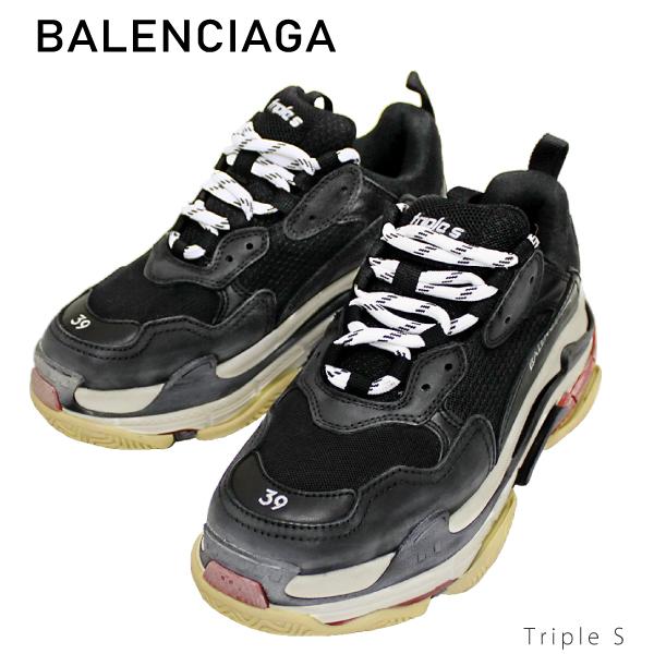 【送料無料】【並行輸入品】【2018 AW】『BALENCIAGA-バレンシアガ-』Triple S 〔533882 W09O1 1000〕