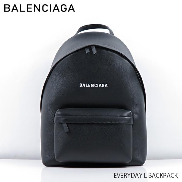 【予約】【送料無料】【2019 SS】【新作】【並行輸入品】『BALENCIAGA-バレンシアガ-』EVERYDAY L BACKPACK〔552374/DLQ4N〕-エブリデイ バックパック リュックサック ロゴ ブラック-《ご注文後3日前後発送予定》