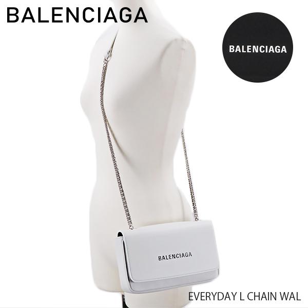 【送料無料】【2019 SS】【新作】【並行輸入品】『BALENCIAGA-バレンシアガ-』EVERYDAY L CHAIN WAL〔537387/DLQ4N〕-エブリデイ チェーンウォレット 斜めがけ ショルダーバッグ ロゴ ブラック-