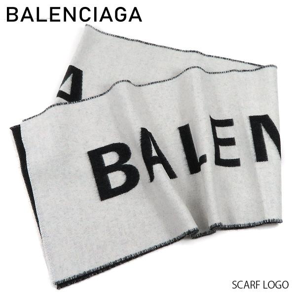 【予約】【送料無料】【2019 SS】【新作】【並行輸入品】『BALENCIAGA-バレンシアガ-』SCARF LOGO〔512732/320B0〕-ロゴスカーフ マフラー ストール ウール-《ご注文後3日前後発送予定》