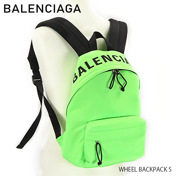【送料無料】【2019 SS】【並行輸入品】『BALENCIAGA-バレンシアガ-』WHEEL BACKPACK S ホイール バックパック S リュックサック グリーン〔565798/98P1N〕
