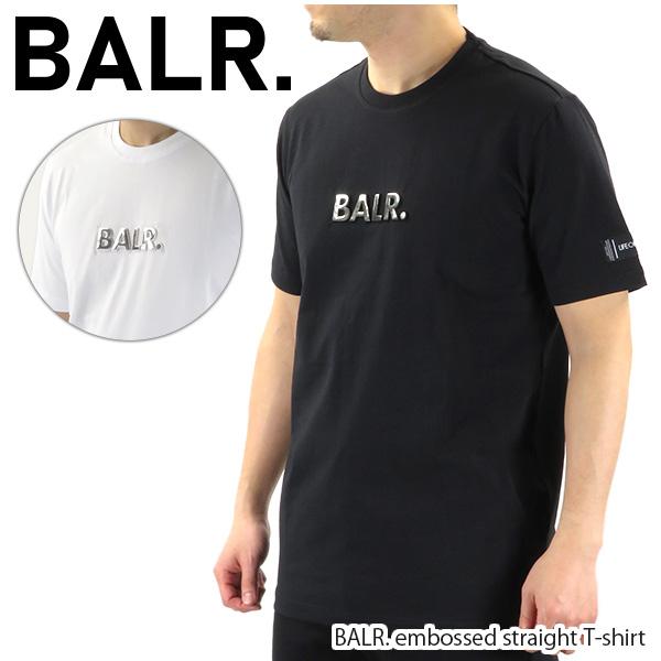 【並行輸入品】『BALR. -ボーラー-』BALR. embossed straight T-shirt エンボスストレート Tシャツ メンズ 半袖 〔8719777093284 8719777093352〕
