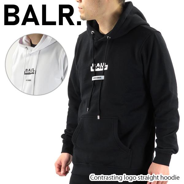 【並行輸入品】『BALR. -ボーラー-』Contrasting logo straight hoodie アイコニック ロゴ フーディー パーカー 長袖 8719777098678 8719777098746【スーパーSALE開催☆ポイント最大44倍!!6/11 01:59マデ】