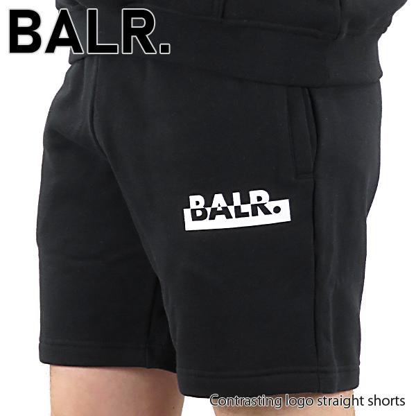 【並行輸入品】『BALR. -ボーラー-』Contrasting logo straight shorts ロゴ ハーフ スウェットパンツ 8719777102665【スーパーSALE開催☆ポイント最大44倍!!6/11 01:59マデ】
