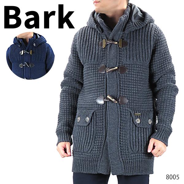 【送料無料】【並行輸入品】『BARK-バーク-』ニット ダッフルコート メンズ ウール アウター グレー ネイビー ブラック〔8005〕