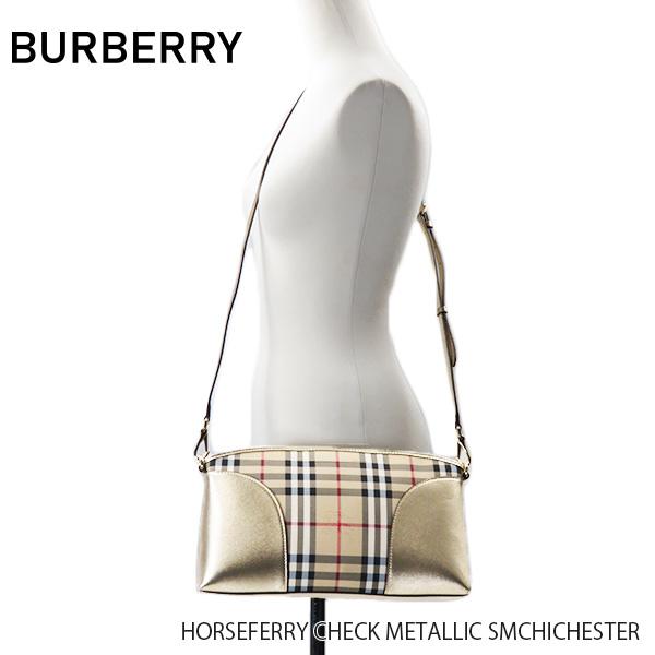 【送料無料】【並行輸入品】【BURBERRY-バーバリー】SM CHICHESTER Horseferry Check Metallic【スーパーSALE開催☆ポイント最大44倍!!6/11 01:59マデ】