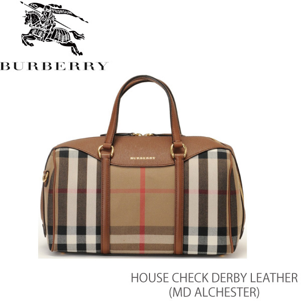 【送料無料】【並行輸入品】【BURBERRY-バーバリー】MD ALCHESTER House Check Derby Leather