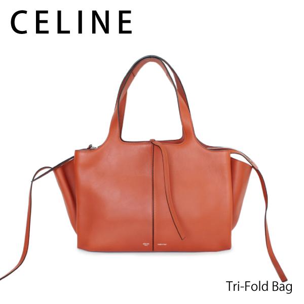 【送料無料】【2018SS】【並行輸入品】『CELINE-セリーヌ-』Tri-Fold Bag[TRI FOLD MEDIUM 178883AHL キャメル]