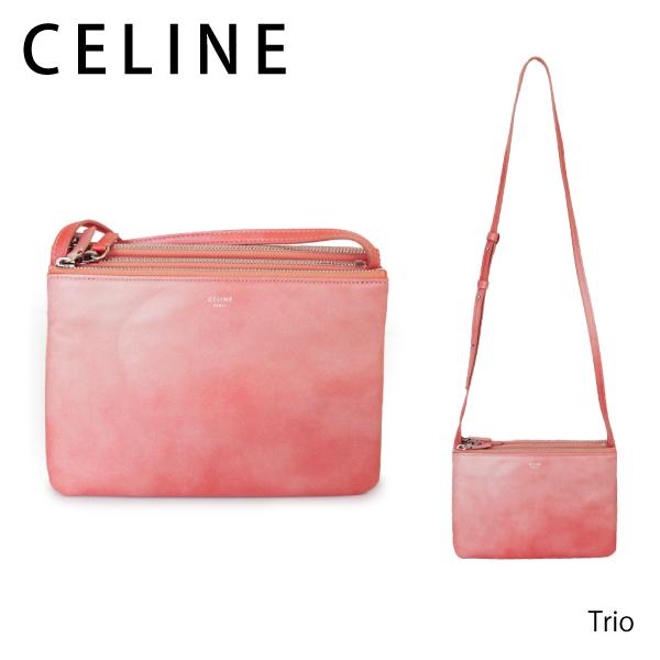 【送料無料】【2018SS】【並行輸入品】《跡がついている》『CELINE-セリーヌ-』Trio Shoulder Bag[165113A6E ピンク]