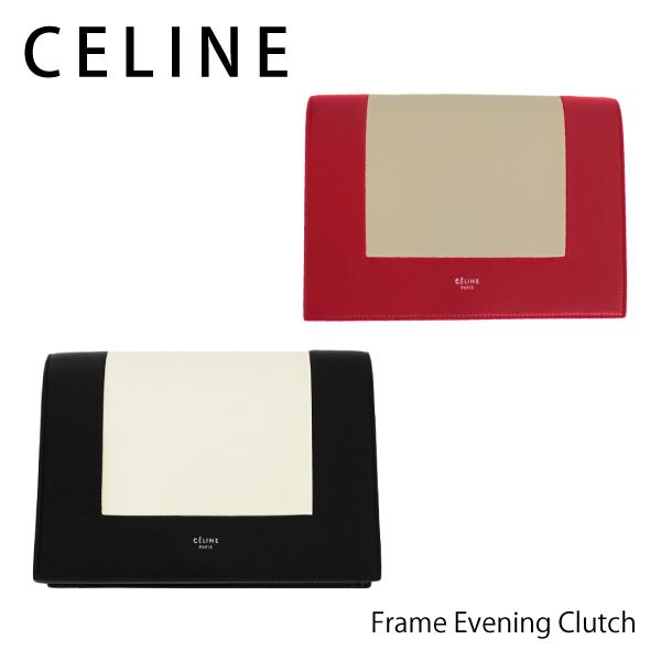 【送料無料】【2018SS】【並行輸入品】『CELINE-セリーヌ-』Frame Evening Clutch[107773A04 ブラック ワイン]