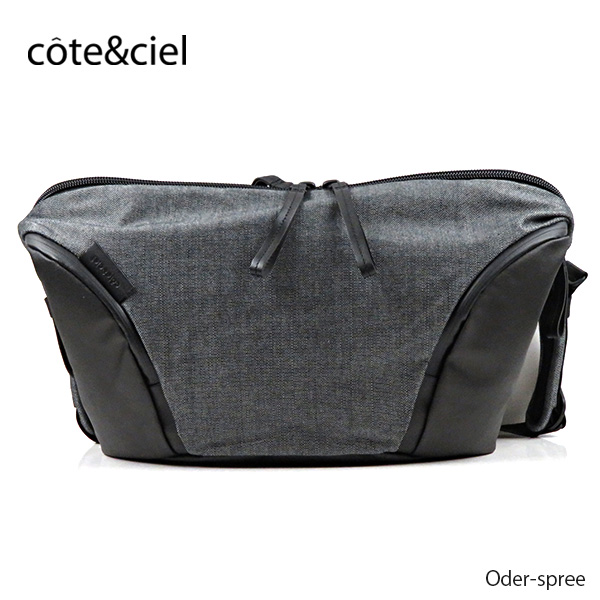 【2019 AW】【並行輸入品】『cote&ciel-コートエシエル-』Oder-spree オーデルシュプレー ショルダーバッグ ボディバッグ ユニセックス Steel Grey [28807]