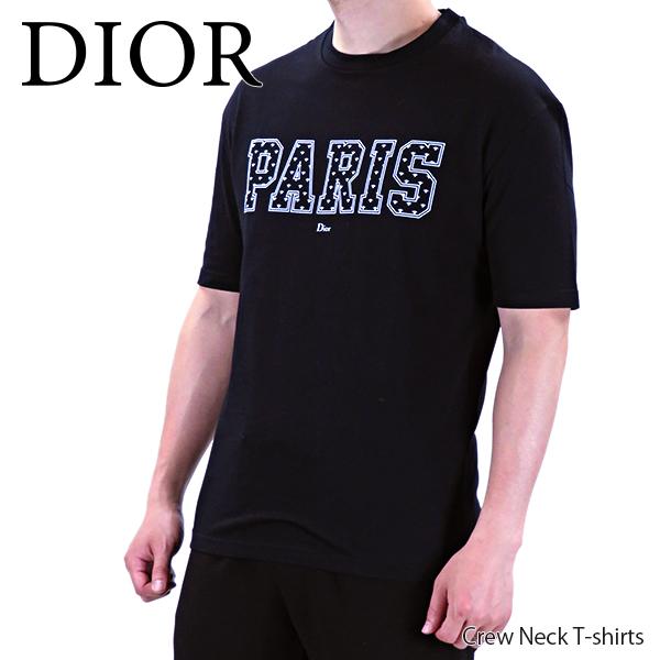 【予約】【並行輸入品】『Dior-ディオール-』Crew Neck T-shirts クルーネック ロゴ 半袖 Tシャツ メンズ[863J621 I7412]≪ご注文後3日前後発送予定≫【スーパーSALE開催☆ポイント最大44倍!!6/11 01:59マデ】