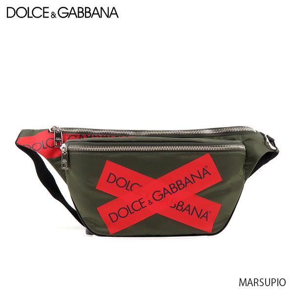 【予約】【送料無料】【2019 SS】【新作】【並行輸入品】『DOLCE&GABBANA-ドルチェアンドガッバーナ』MARSUPIO テープロゴ ナイロンボディーバッグ 〔BM1509〕[8D502 8S574]《4月18日前後発送予定》
