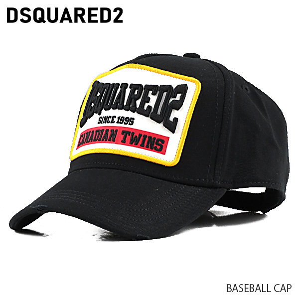 【予約】【並行輸入品】『DSQUARED2-ディースクエアード-』BASEBALL CAP ベースボール キャップ 刺繍 メンズ[BCM031705C00001/G]≪ご注文後3日前後発送予定≫