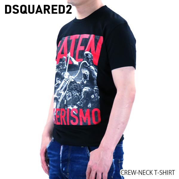 【並行輸入品】『DSQUARED2-ディースクエアード-』CREW-NECK T-SHIRT クルーネック Tシャツ ロゴ 半袖 メンズ[S74GD0650S22427/G]