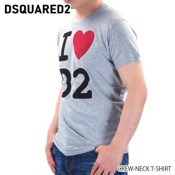 【予約】【並行輸入品】『DSQUARED2-ディースクエアード-』CREW-NECK T-SHIRT クルーネック Tシャツ ロゴ 半袖 メンズ[S74GD0670S22146/G]≪ご注文後3日前後発送予定≫【スーパーSALE開催☆ポイント最大44倍!!6/11 01:59マデ】